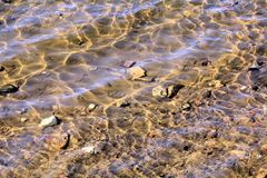 Sunlit River Waves royalty free stock photo