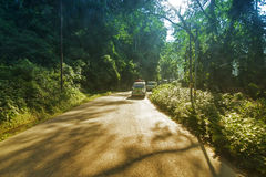 Sunlit road of Sikkim royalty free stock image