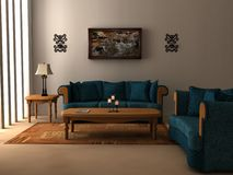 Sunlit Room stock images