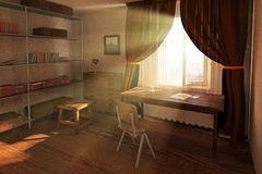 Sunlit room interior Stock Images