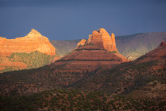 Sunlit Sandstone in Sedona Stock Photos