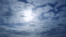 Sunlit sky and cloudscape stock footage
