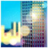 Sunlit skyscraper Stock Image