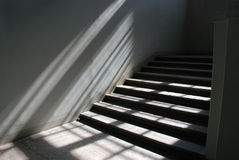 Sunlit staircase Stock Photos