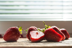 Sunlit Strawberries Royalty Free Stock Images