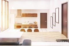 Sunlit studio kitchen Stock Photos