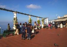Sunlit terrace of Capri Island Stock Photography