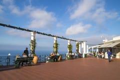 Sunlit terrace of Capri Island Royalty Free Stock Photos