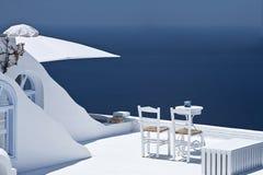 Sunlit Terrasse. Stockbild