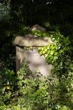 Sunlit tombs along Birdcage Walk in Bristol on May 13, 2019. BRISTOL, UK - MAY 13 : Sunlit tombs along Birdcage Walk in Bristol on May 13, 2019 stock photo