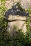 Sunlit tombs along Birdcage Walk in Bristol on May 13, 2019. BRISTOL, UK - MAY 13 : Sunlit tombs along Birdcage Walk in Bristol on May 13, 2019 stock photography
