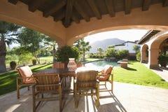Sunlit Veranda At Home Royalty Free Stock Images