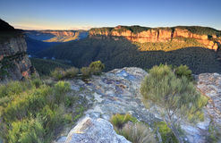 Sunlit Walls at Walls Lookout Blue Mountains Stock Photos