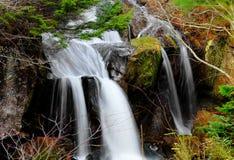 Sunlit Wasserfall Stockfotos