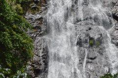 Sunlit Wasserfall Stockfotografie