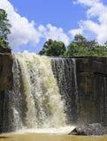 sunlit waterfall Arkivfoto
