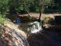 sunlit waterfall Fotografering för Bildbyråer