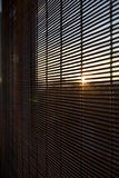 Sunlit window in ecological house Royalty Free Stock Photo