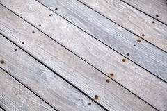 Diagonal Wooden Deck Royalty Free Stock Images