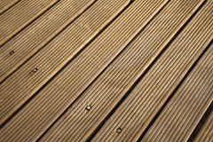 Diagonal Wooden Deck Royalty Free Stock Photo