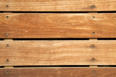 Frontal Wooden Deck Stock Photography