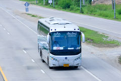 Sunlong Bus of Green bus Company. Between Chiangmai and Phuket. Royalty Free Stock Photo
