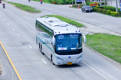 Sunlong Bus of Green bus Company. Between Chiangmai and Phuket. Royalty Free Stock Image