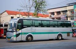Sunlong Bus of Green bus Company Stock Photo
