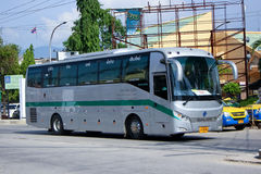 Sunlong Bus of Green bus Company. Stock Photos