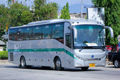 Sunlong Bus of Green bus Company. Stock Image
