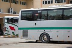 Sunlong Bus of Green bus Company. Between Chiangmai and Thungcha Stock Photo