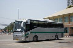 Sunlong Bus of Green bus Company. Between Chiangmai and Thungcha Royalty Free Stock Photo