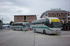 Sunlong Bus of Greenbus Company Royalty Free Stock Images