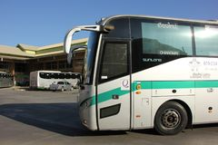 Sunlong Bus of Greenbus Company Royalty Free Stock Photos