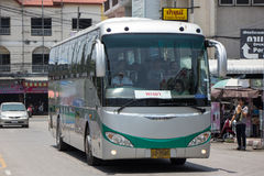 Sunlong Bus of Greenbus Company. Route  Between Chiangmai and C Stock Photos