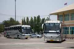 Sunlong Bus of Greenbus Company. Route Between Chiangmai and Chi Stock Photo