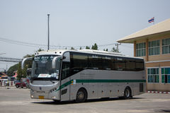 Sunlong Bus of Greenbus Company. Route Between Chiangmai and Chi Stock Images