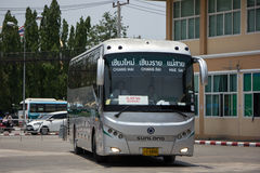 Sunlong Bus of Greenbus Company. Route  Between Chiangmai and Ma. CHIANG MAI, THAILAND -MAY 1 2017:  Sunlong Bus of Greenbus Company. Route  Between Chiangmai Royalty Free Stock Images