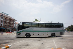 Sunlong Bus of Greenbus Company. Route  Between Chiangmai and Ma Royalty Free Stock Photos