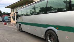 Sunlong bus of Greenbus company. Route Phuket and Chiangmai. stock video footage