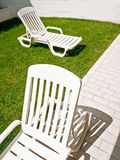 Sunlounger Royalty Free Stock Images
