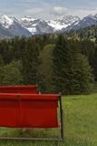 Sunlounger. In the austrian alps: Kleinwalsertal Royalty Free Stock Image