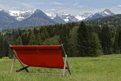 Sunlounger. In the austrian alps: Kleinwalsertal Stock Images