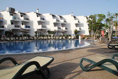Sunloungers in a hotel Royalty Free Stock Photos