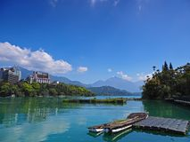 The Sunmoon Lake in Taiwan stock images
