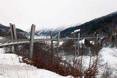 Sunniberg bro, Kosters-Serneus, Schweiz Arkivfoto