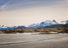 Snow Covered Mountains, Alesund, Norway Stock Photography