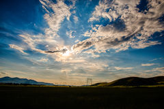 Sunnny day. Mountain clouds and amazing day royalty free stock photos