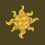 Sunny. Illustration of a sun with a face royalty free illustration