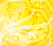 Sunny Abstract Flower Background Stock Image
